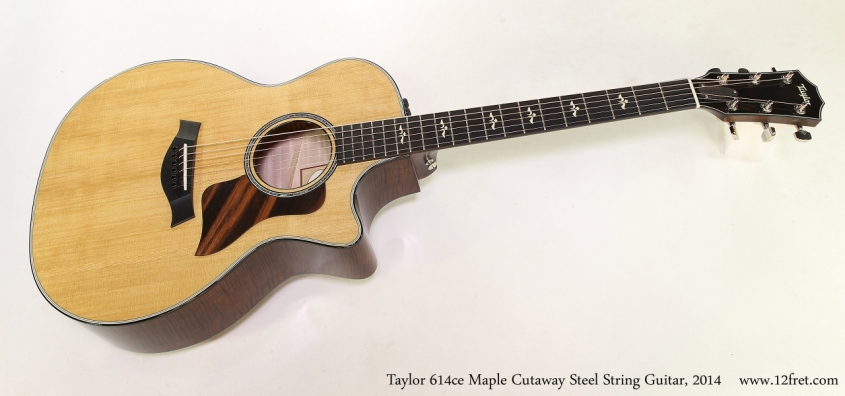 Taylor 614ce Maple Cutaway Steel String Guitar, 2014   Full Front View