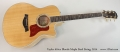 Taylor 616ce Blonde Maple Steel String, 2014 Full Front View