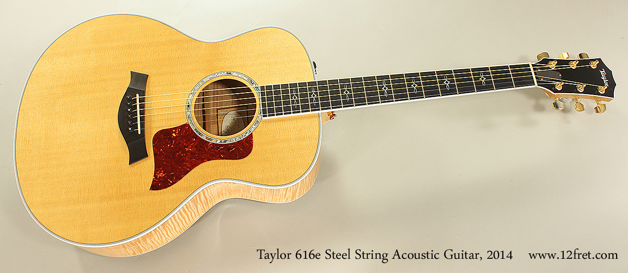 Taylor 616e Steel String Acoustic Guitar, 2014 Full Front View