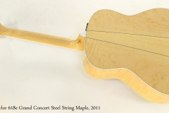 Taylor 618e Grand Concert Steel String Maple, 2011  Full Rear View