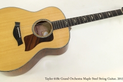 Taylor 618e Grand Orchestra Maple Steel String Guitar, 2015  Full Front View