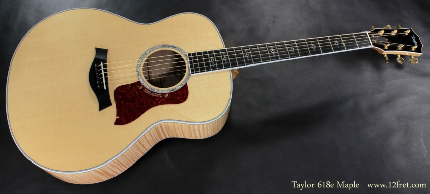 Taylor 618e Maple full front view