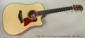Taylor 710ce L9 Steel String Dreadnought, 2004 Full Front View