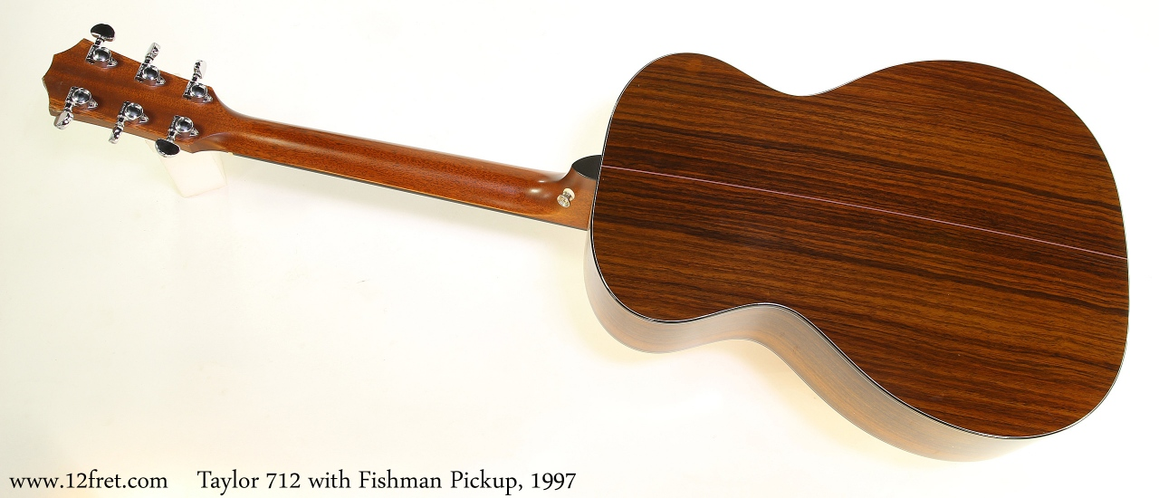 Taylor 712 with Fishman Pickup, 1997 Full Rear View