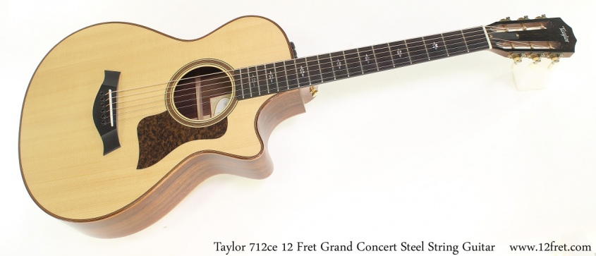 Taylor 712ce 12 Fret Grand Concert Steel String Guitar Full Front View