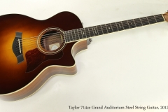 Taylor 714ce Grand Auditorium Steel String Guitar, 2012 Full Front View