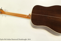 Taylor 810 Indian Rosewood Dreadnought, 2015  Full Rear View