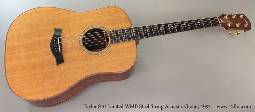 Taylor 810 Limited WMB Steel String Acoustic Guitar, 1997 full front view