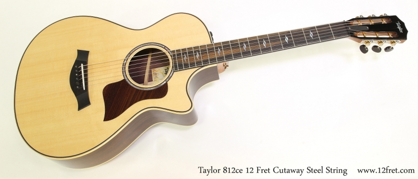 Taylor 812ce 12 Fret Cutaway Steel String    Full Front View