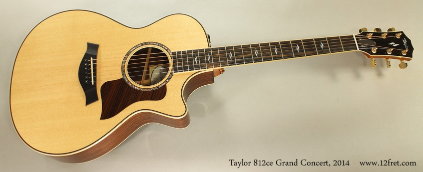 Taylor 812ce Grand Concert, 2014 Full Front View