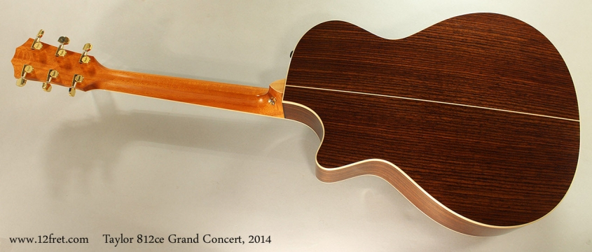 Taylor 812ce Grand Concert, 2014 Full Rear View