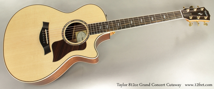 Taylor 812ce Grand Concert Cutaway full front view