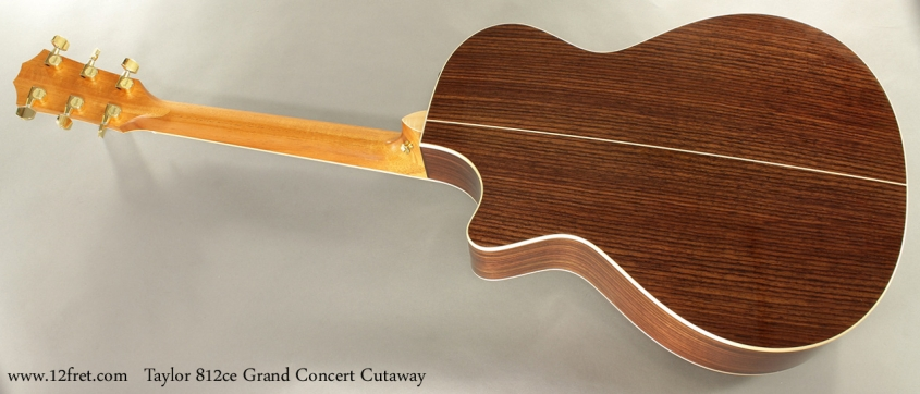 Taylor 812ce Grand Concert Cutaway full rear view