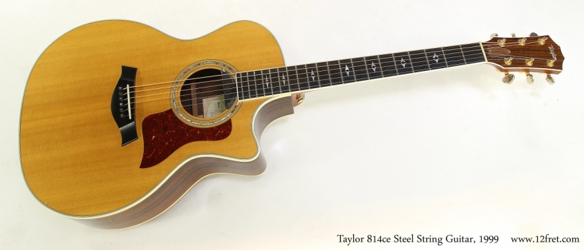Taylor 814ce Steel String Guitar, 1999  Full Front View