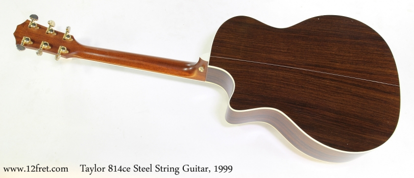 Taylor 814ce Steel String Guitar, 1999  Full Rear View