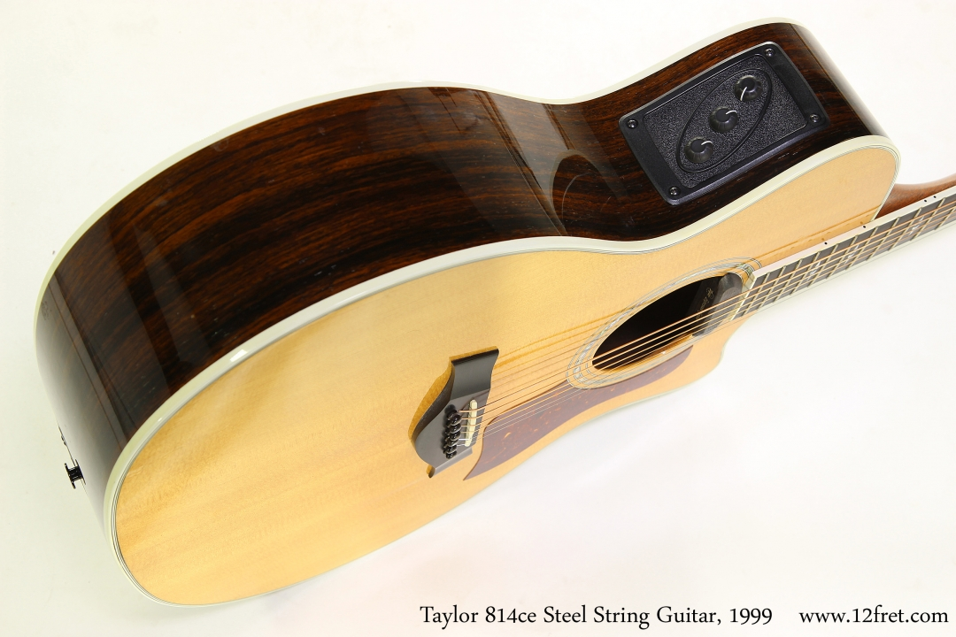 Taylor 814ce Steel String Guitar, 1999  Side View