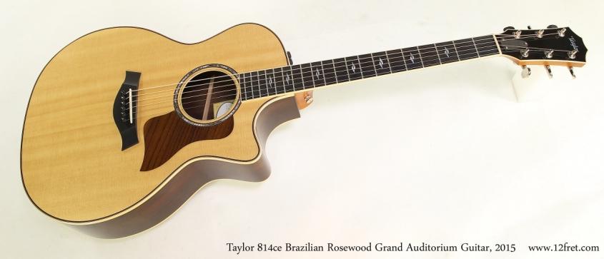 Taylor 814ce Brazilian Rosewood Grand Auditorium Guitar, 2015  Full Front  View