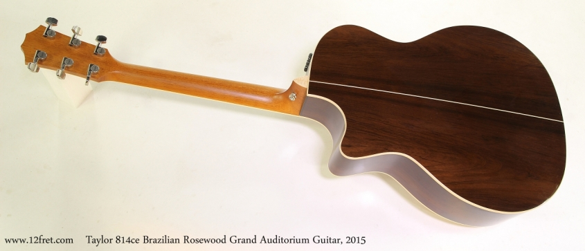 Taylor 814ce Brazilian Rosewood Grand Auditorium Guitar, 2015  Full Rear View
