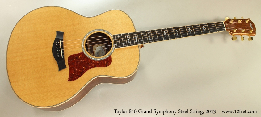 Taylor 816 Grand Symphony Steel String, 2013 Full Front View