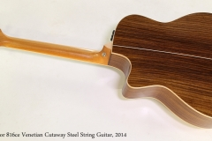 Taylor 816ce Venetian Cutaway Steel String Guitar, 2014 Full Rear View