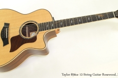 Taylor 856ce 12-String Guitar Rosewood, 2014  Full Front View