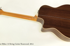 Taylor 856ce 12-String Guitar Rosewood, 2014  Full Rear VIew