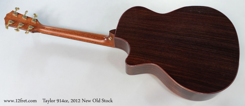 Taylor 914ce, 2012 New Old Stock Full Rear View