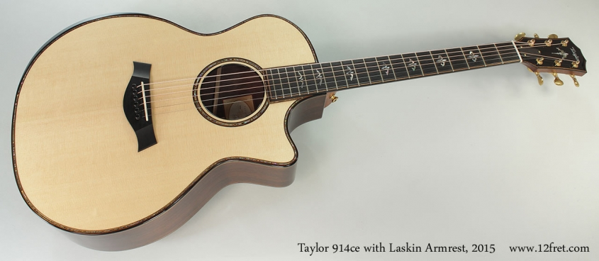 Taylor 914ce with Laskin Armrest, 2015 Full Front View