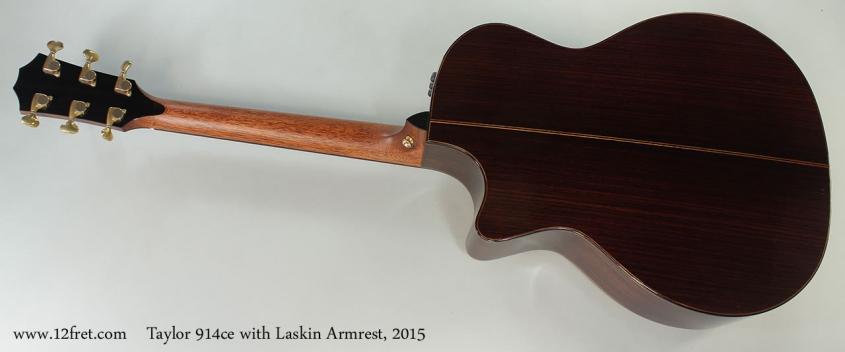 Taylor 914ce with Laskin Armrest, 2015 Full Rear View