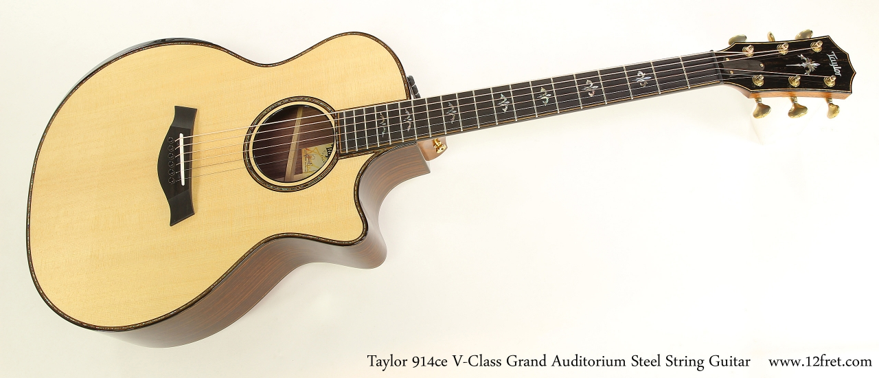 Taylor 914ce V-Class Grand Auditorium Steel String Guitar  Full Front View