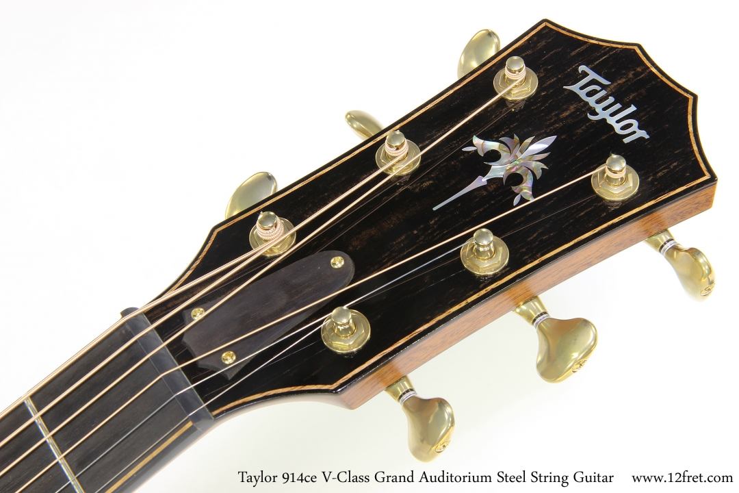 Taylor 914ce V-Class Grand Auditorium Steel String Guitar  Head Front View