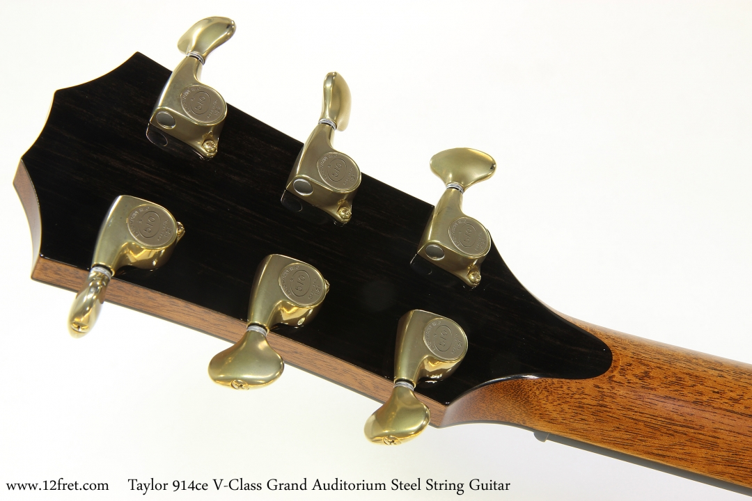 Taylor 914ce V-Class Grand Auditorium Steel String Guitar  Head Rear View