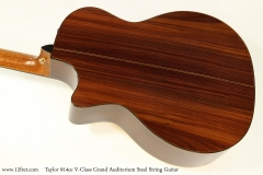 Taylor 914ce V-Class Grand Auditorium Steel String Guitar  Back View