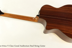 Taylor 914ce V-Class Grand Auditorium Steel String Guitar  Full Rear View