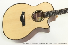 Taylor 914ce V-Class Grand Auditorium Steel String Guitar  Top View