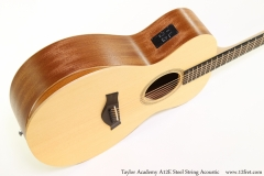 Taylor Academy A12E Steel String Acoustic Bass Side View