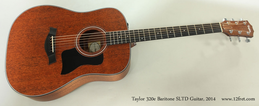 Taylor 320e Baritone SLTD Guitar, 2014 Full Front View