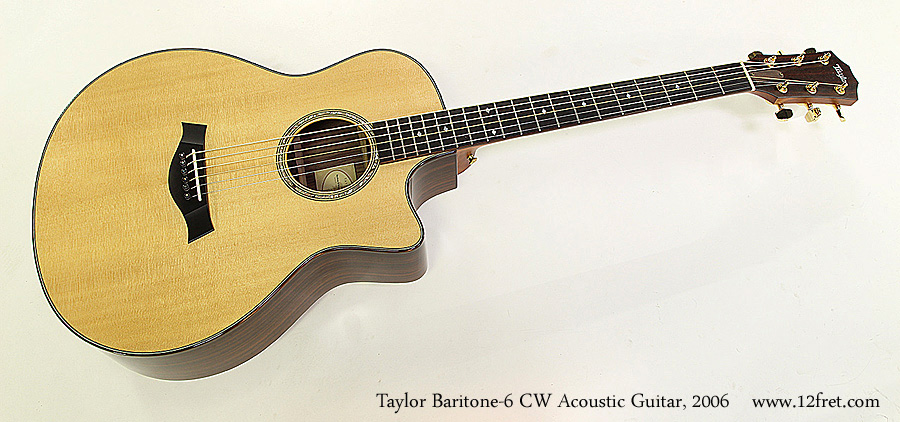 Taylor Baritone-6 CW Acoustic Guitar, 2006 Full Front View
