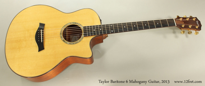 Taylor Baritone 6 Mahogany Guitar, 2013 Full Front View