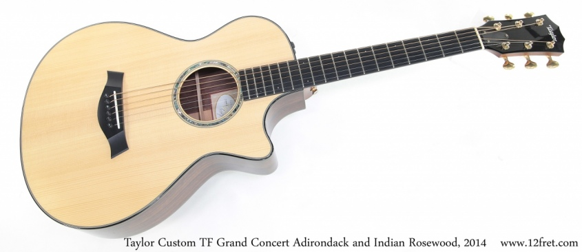 Taylor Custom TF Grand Concert Adirondack and Indian Rosewood, 2014 Full Front View