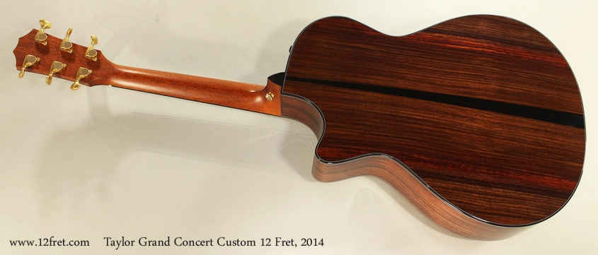 Taylor Grand Concert Custom 12 Fret, 2014 Full Rear View