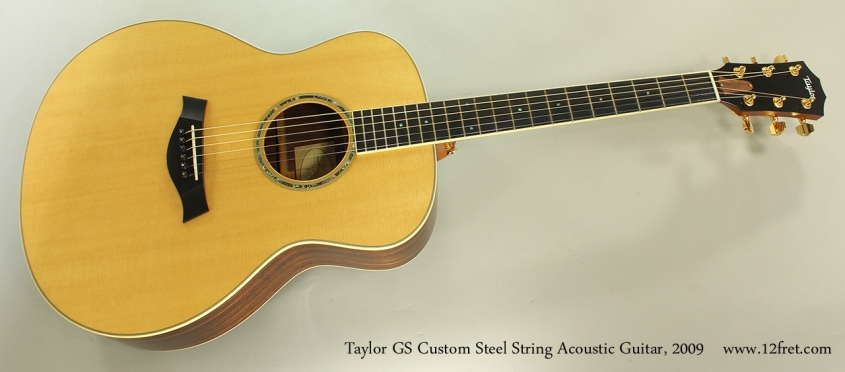 Taylor GS Custom Steel String Acoustic Guitar, 2009 Full Front View