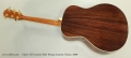 Taylor GS Custom Steel String Acoustic Guitar, 2009 Full Rear View