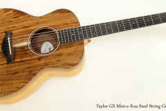 Taylor GS Mini-e Koa Steel String Guitar  Full Front View