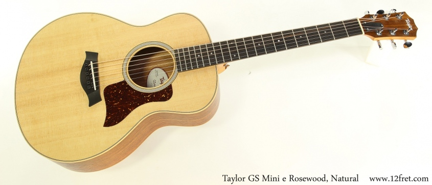 Taylor GS Mini e Rosewood, Natural Full Front View