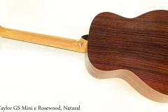 Taylor GS Mini e Rosewood, Natural Full Rear View