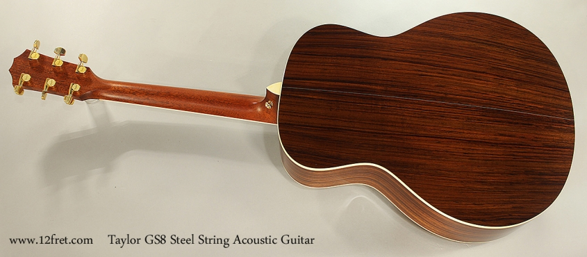 Taylor GS8 Steel String Acoustic Guitar, 2011 Full Rear View