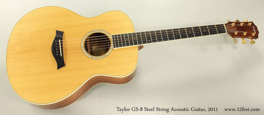 Taylor GS-8 Steel String Acoustic Guitar, 2011 Full Front VIew