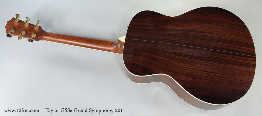 Taylor GS8e Grand Symphony, 2011 Full Rear View