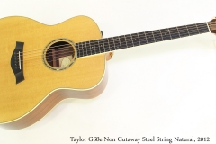 Taylor GS8e Non Cutaway Steel String Natural, 2012 Full Front View